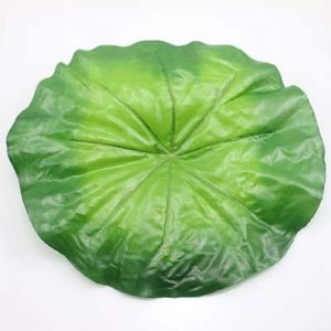 Lotus leaf, Plastic, green, 22cm  x  24cm, 3 pieces, (ST549)